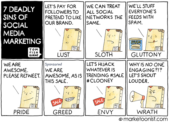 7 Deadly Sins of Social Media Marketing - Tom Fishburne