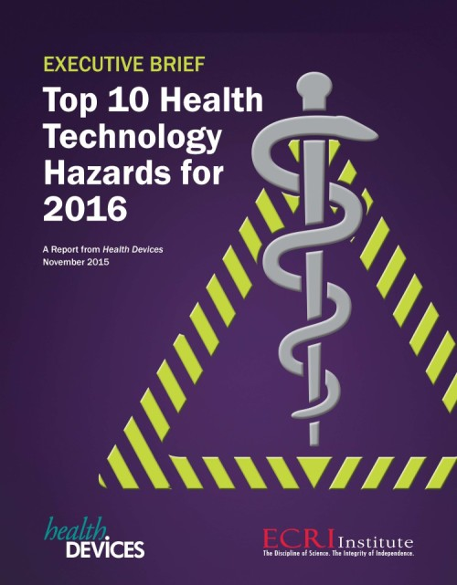 ECRI Top 10 Health Technology Hazards for 2016