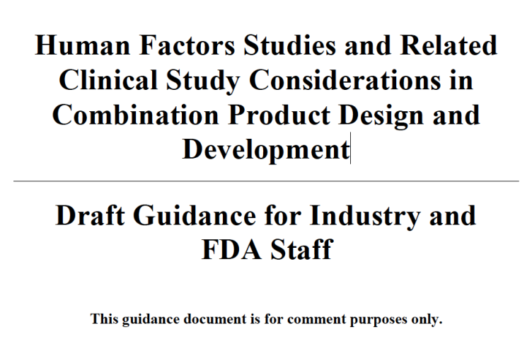 Combination Products Draft Guidance