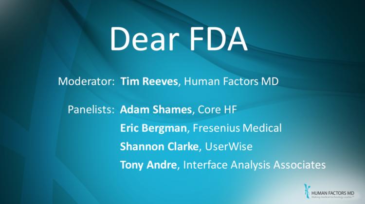 Dear FDA